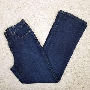 Talbots Dark Wash High Rise Straight Leg jeans 8